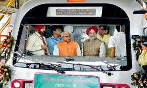 CM, Inaugurates, Bahadurgarh-Mundka, Metro
