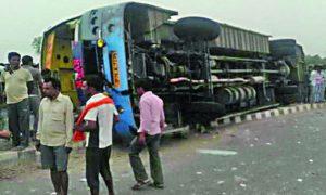 Bus, Reversed, In, UP, 17 Killed, Jaipur,