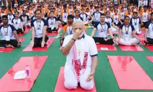 Modi , India, Identifies, Itself, With, Yoga