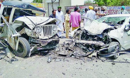 Road Accident, Bhatinda, Two Dead