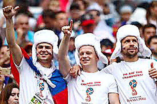 Spain Stop Russia Supporters Sports