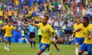 Brazil, Beat, Mexico, 2-0