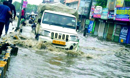 Heavy Rain, Filled Water City, Haryana
