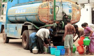 Drinking, Water, Problem, Villagers, Tanker