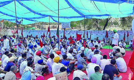 Protest, Against, SSP Office, Punjab