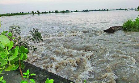 Drain Breaks, 500 Acre Land, Flooded, Water, Punjab