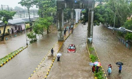 Mumbai, Rail, Track, Highway, Submerged
