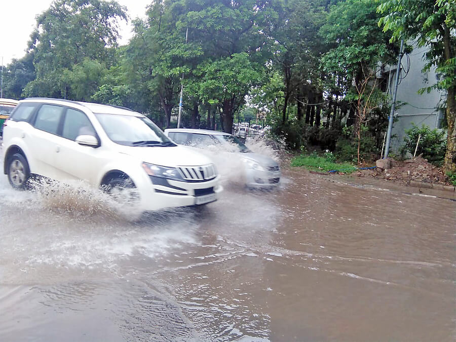 Panchkula: Rain Water, Filled, Sectors, Haryana