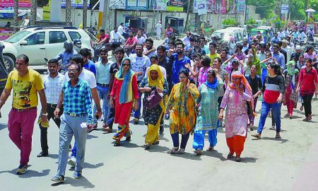 Homeopathic Medical College Students Overcome Rage March