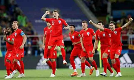 Colombia shoots penalty in England Quarterfinals