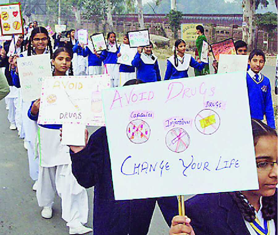 Every Government School, Has Take, Part Campaign, Against, Drug Addiction