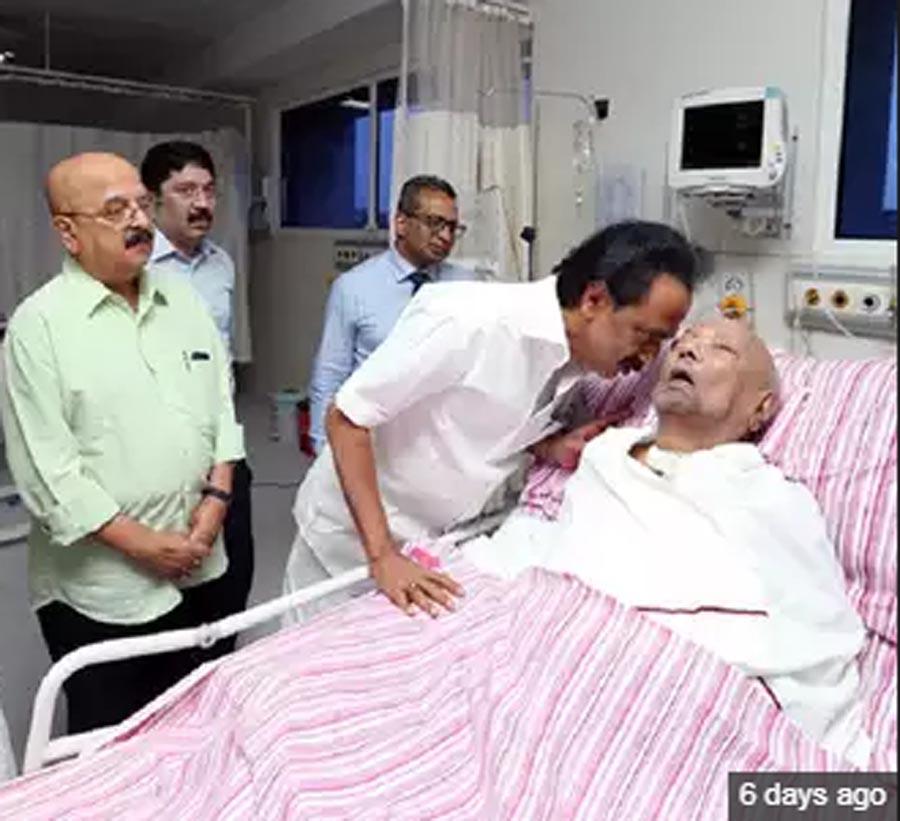 Karunanidhi, Health, Worsens
