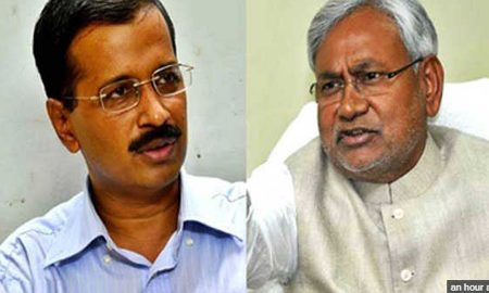 Nitish Kumar, Seeks, Support, Kejriwal, Vice President