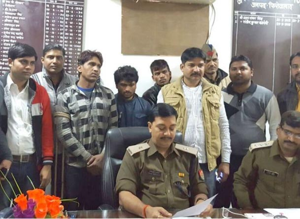 Police arrested three miscreants after the encounter