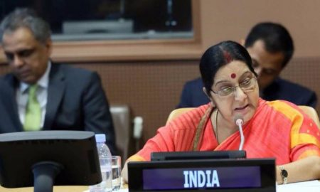 Sushma discusses UN Security Improvement