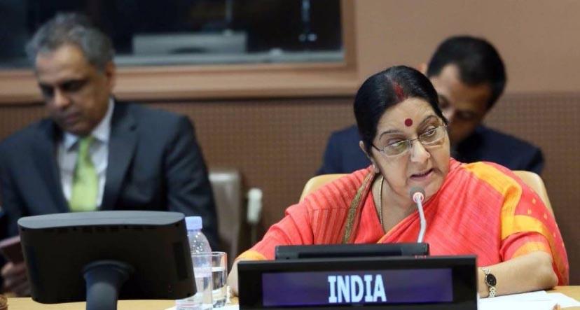 Sushma discusses UN Security Improvement