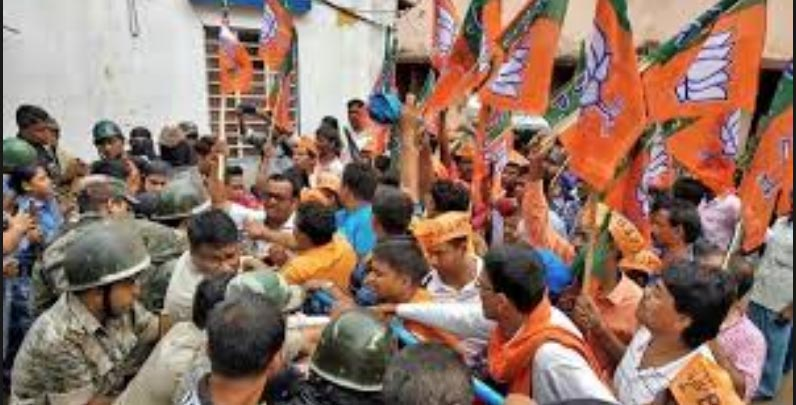 Violence during BJP bandh in Bengal