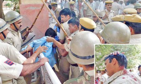 Rehari, Union, Protesters, Clash,  Police, Suratgarh, ASI Injured