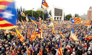 Catalan Protesters, Barcelona, Independence, Spain