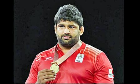 Commonwealth, gold, winner, Sumit, mats, dust,  Georgian, wrestler
