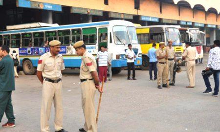 Roadways strike in Bhiwani