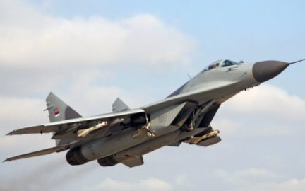 Fighter MiG-29 aircraft