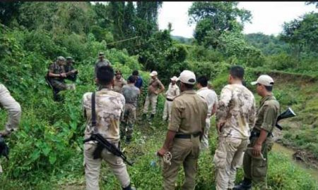 Massive shootout between cookie militants in Manipur