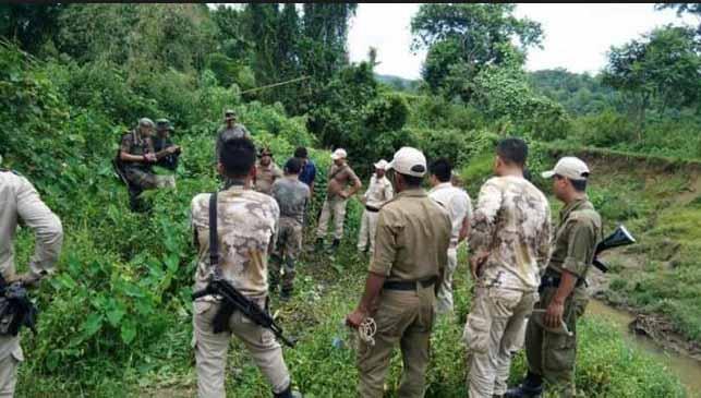 Massive shootout between cookie militants in Manipur
