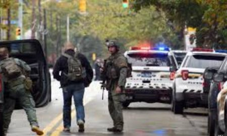 firing in Pittsburgh, eight deaths