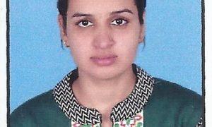 Ph.D. student Pratibha