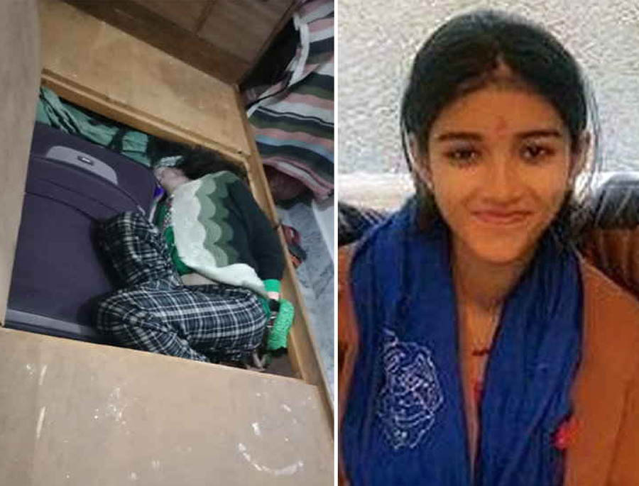 Girl's knife Bludgeoned, Hand-Mouthed Body Hidden In A Bed Box
