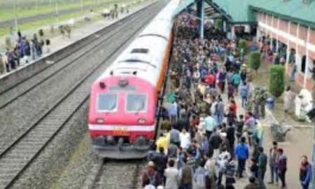 Kashmir: Train service started two days later