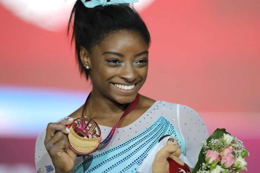 World Championship / Biles Won The Gold, The First Gymnast To Win 4 Gold At The All-Around Event