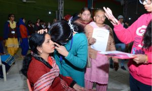 6408 eye patients opd held at dera hospital
