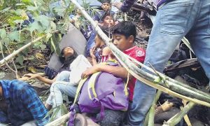 Gujrat School Bus Of 200 Feet Deep Ditch 10 Dead