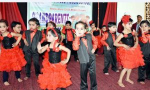 Kids also performed short drama based on Grand Parents
