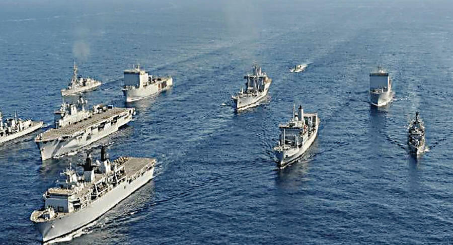 India and Russia Navy