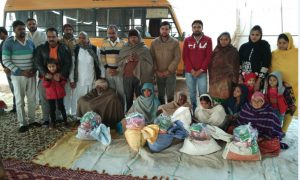 Distribution of ration to the needy