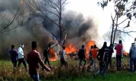 Uttar Pradesh: Air Force Jaguar Crash In Kushinagar