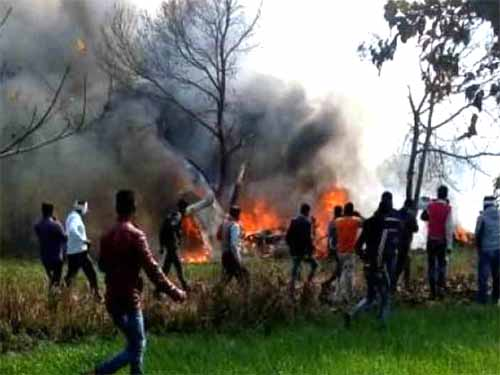 Uttar Pradesh: Air Force Jaguar Crash In Kushinagar