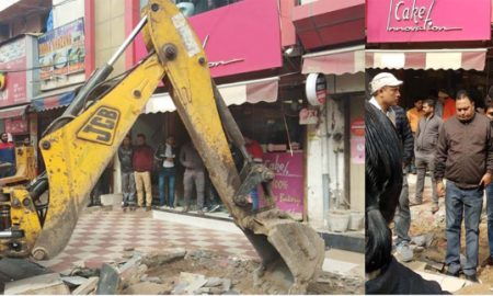 Firing during removal of encroachment
