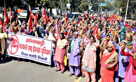 Haryana: Anganwadi workers have encroached villagers residence