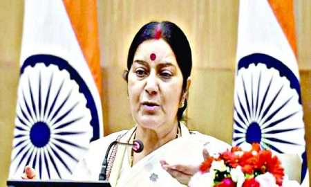 Leading in the struggle against Moroccan terrorism: Sushma