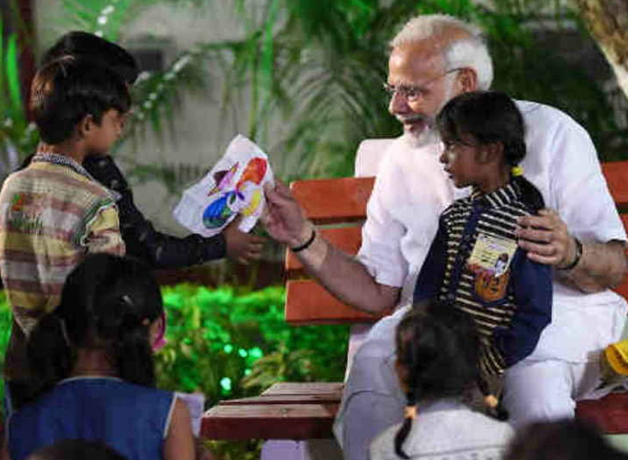 Modi Will Present 300 Crore Vertical Plate Of Akshay Patra To Children