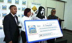 Win the lottery wear mask for the reward so that relatives can not recognize
