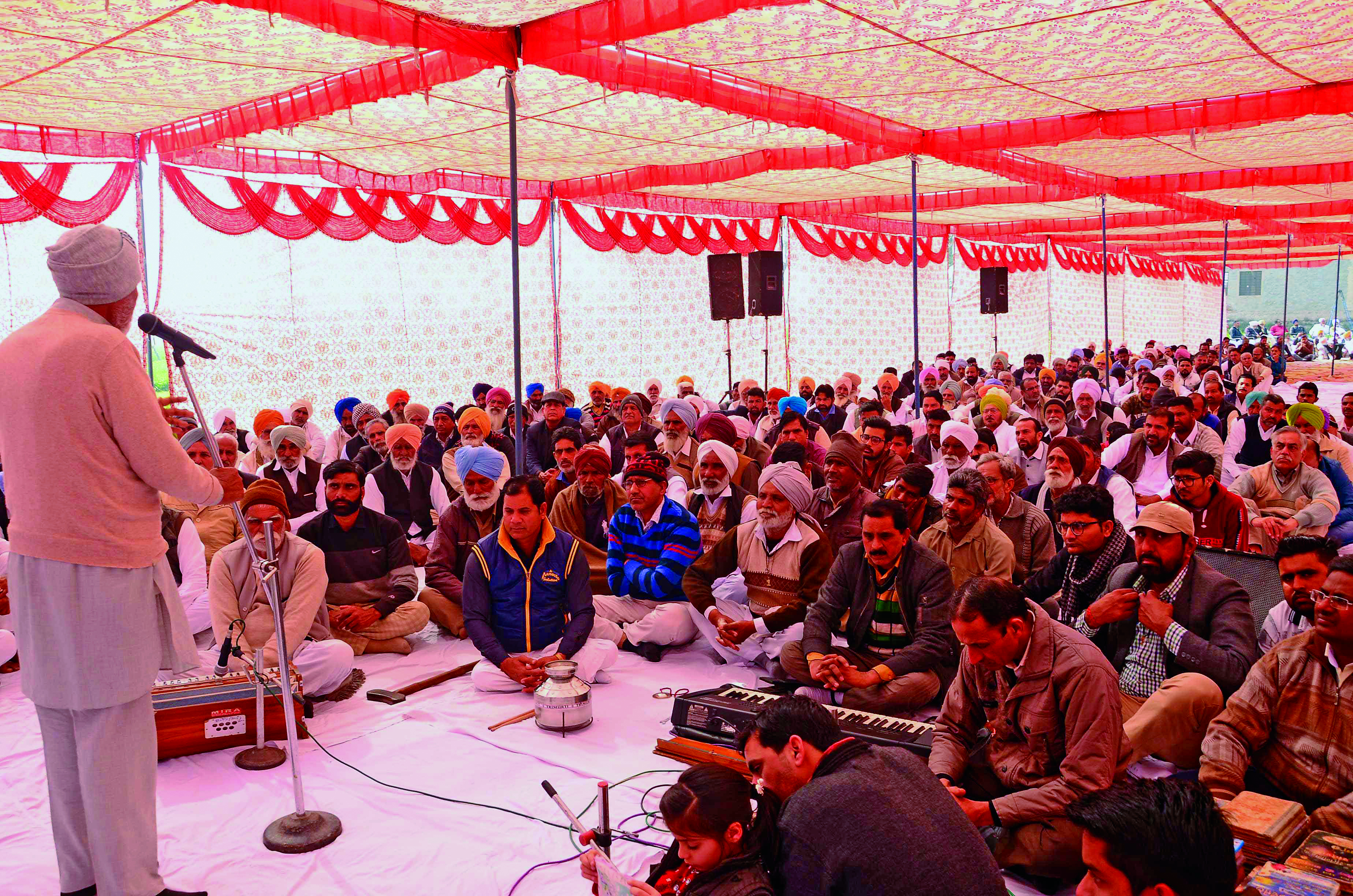 Sadh Sangat Lauds True Master Majesty In Block Namcharcha