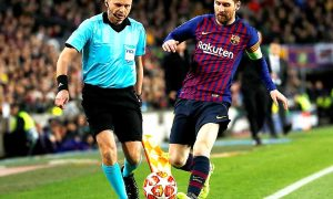 Messi 2 goals Barcelona beat Leone 5-1