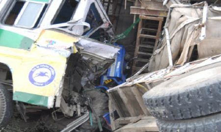 Mother and son going to take medicine bus crushed, death.