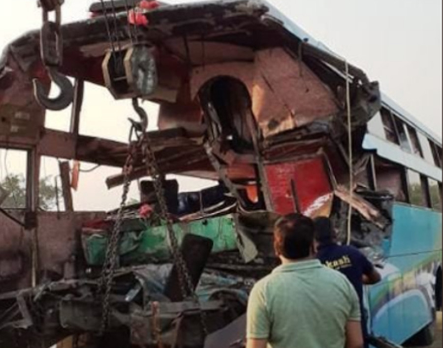 Bus, Truck, Collision