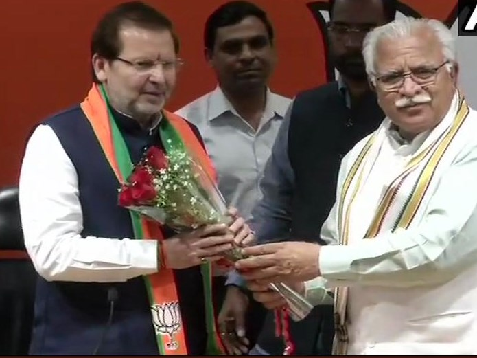 Former Haryana MP Arvind Sharma, Joined , BJP